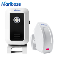 New Wireless 433mhz Split Welcome Doorbell Alarm Night Light Infrared IR Motion Sensor Entry Doorbell Reach