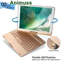 Для iPad Pro 10,5 чехол для клавиатуры ANIMUSS 7 цветов с подсветкой дыхательный свет BT клавиатура с Ультратонкий алюминиевый 360 градусов AB