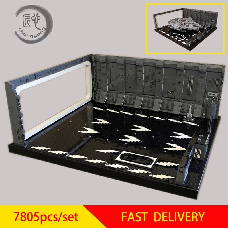 Star Wars Estrela Gancho escala minifig UCS Falcon Docking Bay 327 Cabide MOC para 05132 75192 Kraft Weckt Falcon
