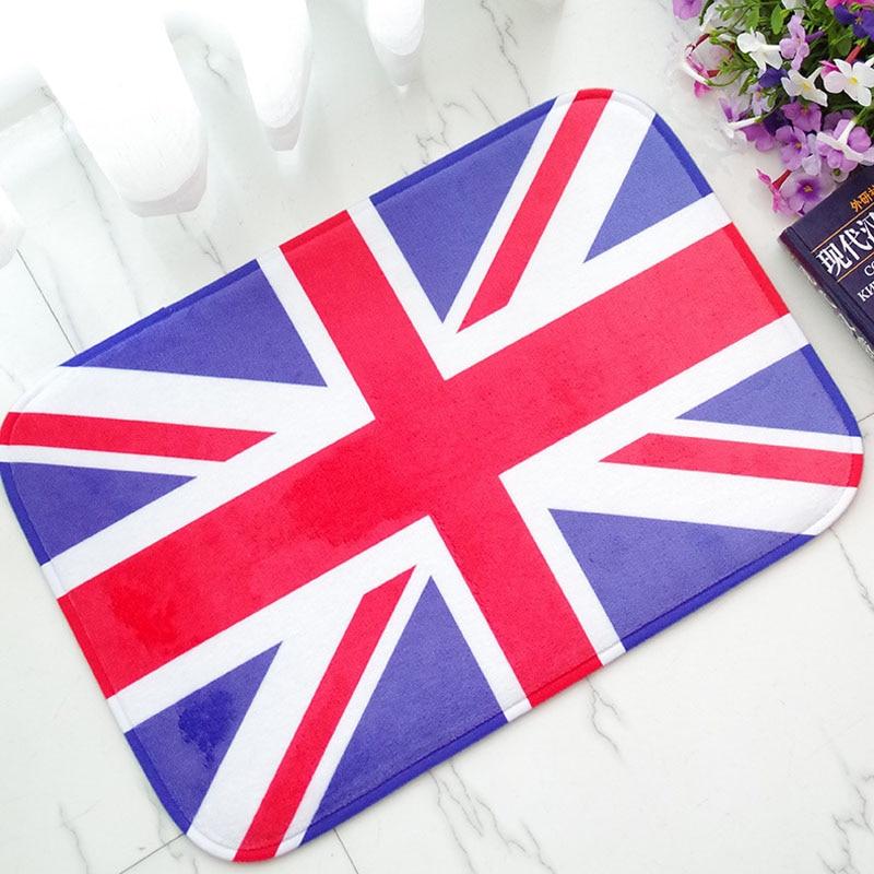 Retrol National Flags Design Weicher Teppich Bodenmatte Küche Bad - Haustextilien