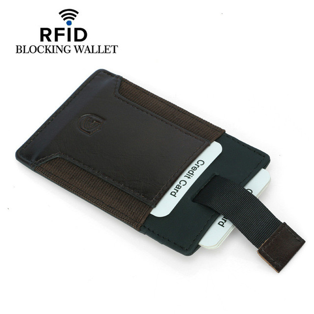 Women wallet leather purses  multi-card bank RFID business card holder pouches purses and handbags