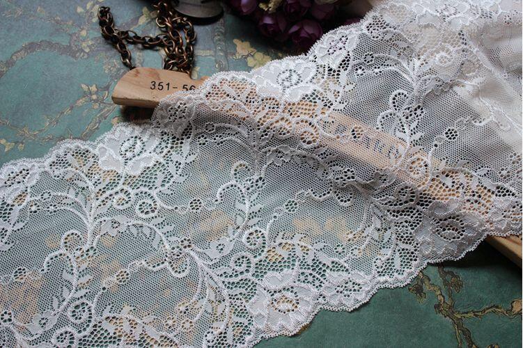 Stretchy Lace Trim Crochet Handcraft Fabric Lace Wedding Dress Sewing DIY Decor