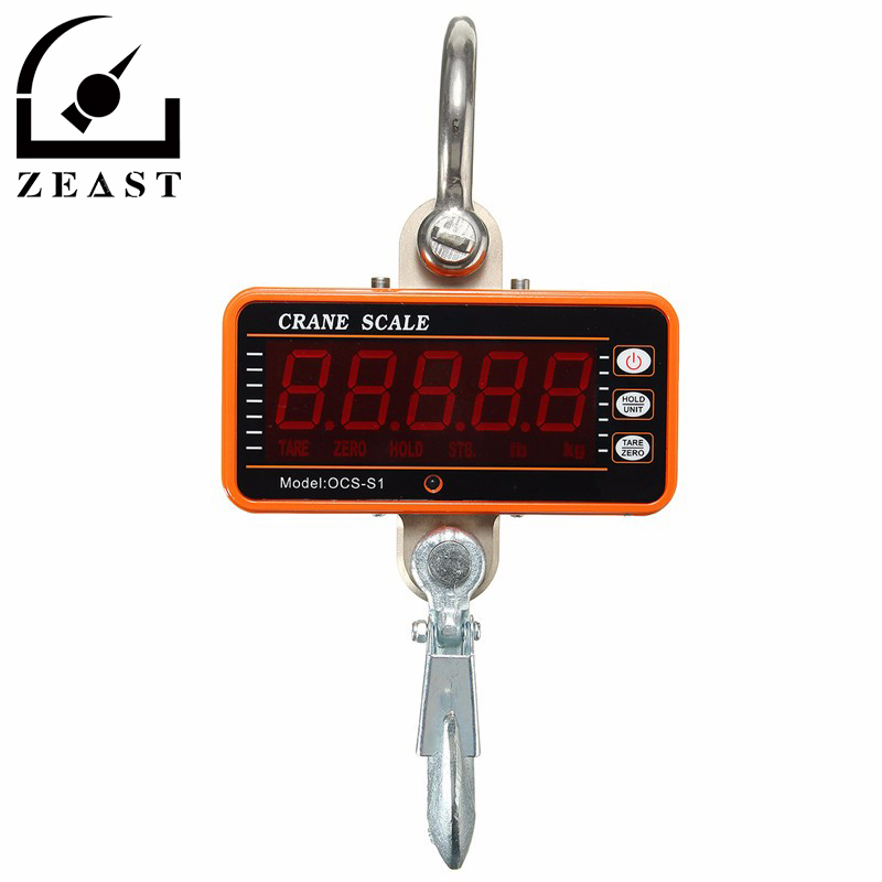 1000KG 2000LBS Hanging Scale Digital LCD Crane Scale High Precision Heavy Duty