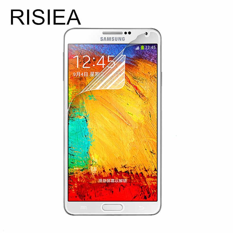 RISIEA 4 قطعة واضح لامع واق شاشة رقيق لسامسونج غالاكسي S3 S4 S5 S6 ملاحظة 3 4 5 لسامسونج s5 واقي للشاشة