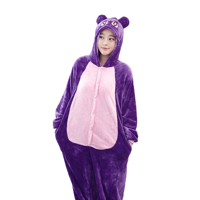 Novelty Anime Sailor Moon Diana Purple Luna Cat Pajamas Onesie For Adult  Women Winter Pijamas Hombre Mujer Hot Selling dd682f018