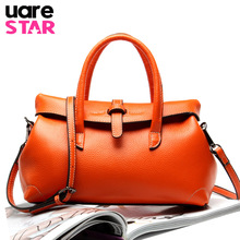 2018 Genuine Leather Women's Handbag Luxury Big Size Lady Totes Brand Design Wom