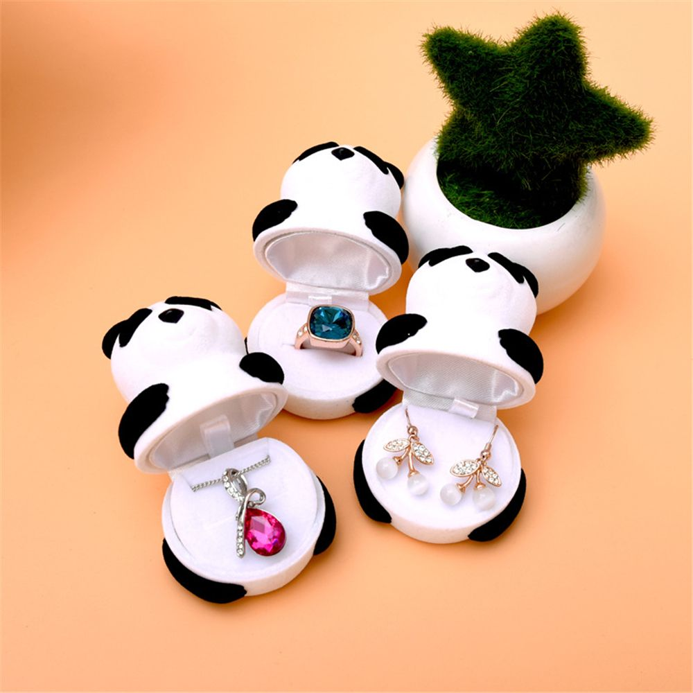 Lovely Panda Jewelry Boxes Lovely Animal Ring Box Ring Earring Carrying CasesJewelry Display Box Gift Hot Sale
