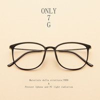 Anti Blue Light Ray Computer Goggles Radiation Resistant Transparent Eye Glasses Frames For Unisex Flat Mirror