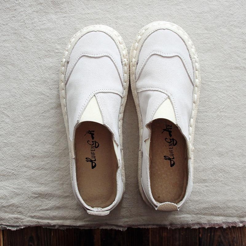 Artistique chaude Et Main Femmes Casual Chaussures white Chaussures dark Automne 2018 Nouvelle Pink Printemps De Ronde Tête Huifengazurrcs Plat Beige Fond Littéraire À 4qdzw0dn