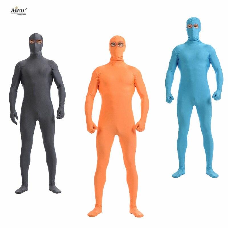 Ainclu Unisex Zentai Lycra Nylon Spandex Suit Eyes Open MultiColor Costumes for Men Cosplay Dancewear Costume Bodysuit