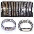 5Pcs/lot Men Stainless Steel Bracelet And Bangles Woman Gold Silver 316L Stainless Steel Chain Bangle Cuff Bracelet Wristband