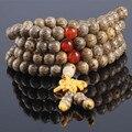 Ubeauty 8mm 108 natural Tibetan Buddha bodhi seed Buddhist mala prayer beads wood bracelet Jewelry for meditation free shipping