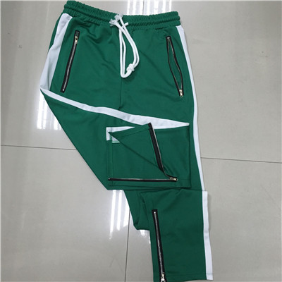 Sweatpants Jogger Bottom Zipper Side-Stripe High-Streetwear Elastic-Waist for Men Drawstring