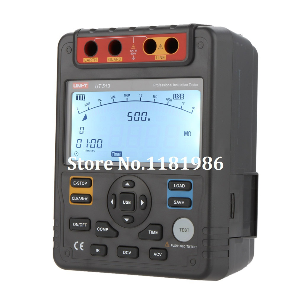 High Voltage 5kv Insulation Resistance Tester Meter Megger 1t Ohm Constant Uni T Ut513 Auto Range Digital Testers Megohmmeter Voltmeter 5000v 1000gohm