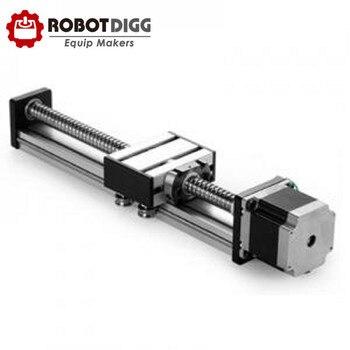 RobotDigg Roller bearing ball screw stepper motor linear module R23L400