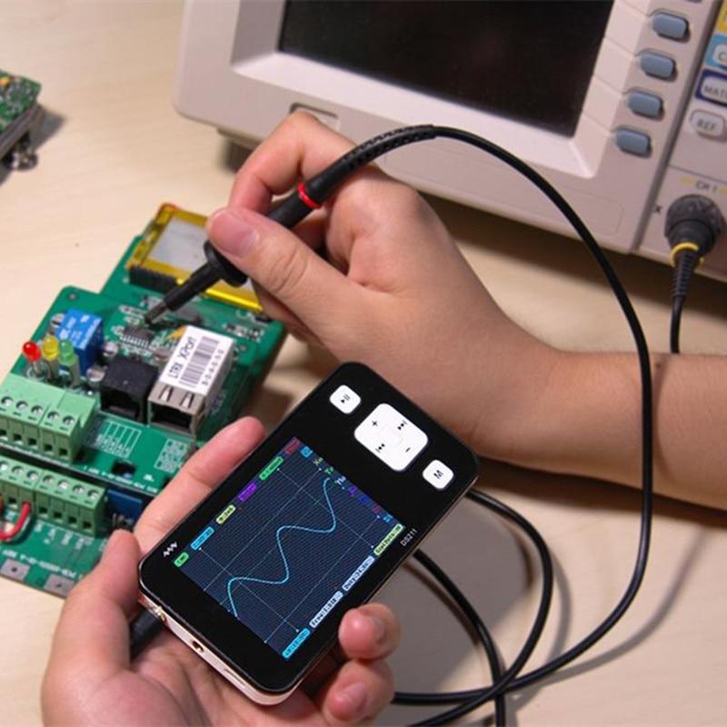 New Version Mini ARM DSO211 Digital Oscilloscope Portable Pocket-sized Nano Handheld Digital Storage Oscilloscope цена и фото