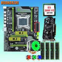 HUANANZHI X79 Pro motherboard with DUAL M.2 NVMe slot CPU Xeon E5 2660 V2 6 tubes cooler RAM 32G(4*8G) GTX1050Ti 4G video card