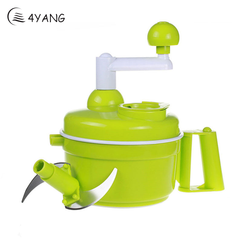 4YANG Hot sale Vegetable Chopper Multifunctional Manual Shredder Garlic Crusher Kitchen Tools Meat Grinder Kitchen Accessories