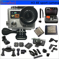 "Original H3 Action camera Ultra HD 4K 25fps WiFi Video Sport Camera 2.0""+0.95"" Screen Camcorder go pro style  waterproof  camera"