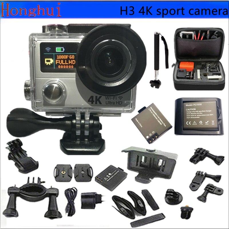 Original cámara de Acción Ultra HD 4 K H3 25fps WiFi Deporte Cámara de Vídeo 2.0