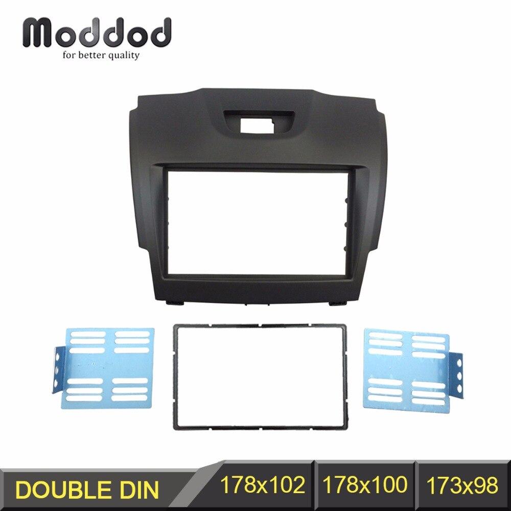 Double Din Fascia for Chevrolet TraiBlazer Isuzu D-Max Holden Colorado Radio DVD Stereo Panel Dash Mount Install Trim Kit Frame