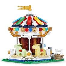 XingBao Fairground Set Blocks 343pcs Carousel Building Merry Go Round Bricks Educational Toys compatible with 10257