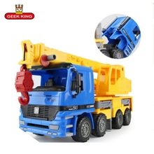 1:22 Large size Boys engineering car crane hook machine child baby toy truck model diecast toys vehicles children
