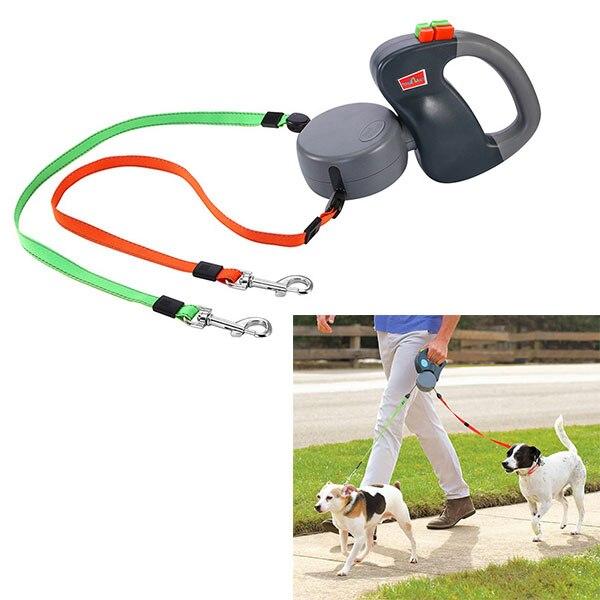 Новые поступления 2 Собака Выдвижной Поводок до 50 фунтов за поводок собаки сильный Lash для 2 Товары для собак