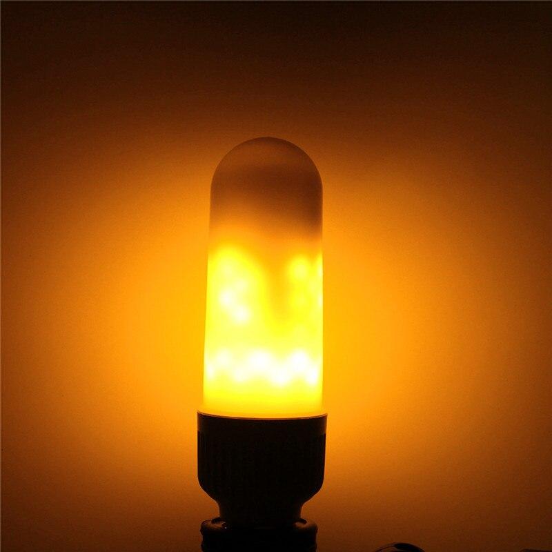 E27 B22 LED Flame Lamp 1800K Yellow Flickering Flame Fire LED Light Bulb Corn Light Bulb 5W AC85-265V Creative Emulation Dec