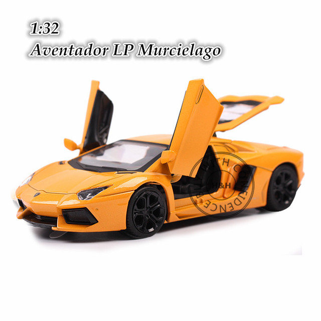 2 Colors 1:32 Aventador LP Murcielago Metal Alloy Diecast Scale Model Car Toy Miniature Sound and Light Boys Gift Simple Package