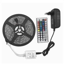 5m 10m Waterproof LED RGBW RGBWW RGB strip light SMD 5050 Light Remote control Power Adapter RGB Fita Ribbon Lamp led strip set недорго, оригинальная цена