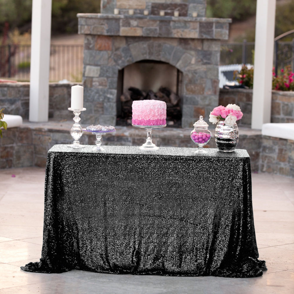 Free Shipping 90 132inch High Quality Square Shiny Sequin Tablecloth For Wedding Banquet Party Decoration 16
