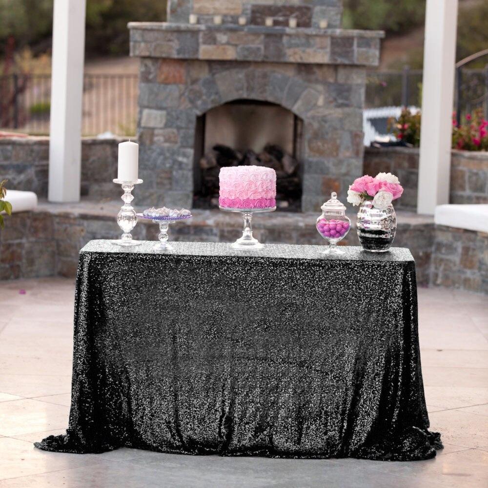 شحن مجاني 90*132 بوصة عالية الجودة ساحة لامعة الترتر لحفل الزفاف وليمة حزب الديكور 16 ألوان-في مفارش المائدة من المنزل والحديقة على  مجموعة 1