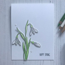 Eastshape Flowers Clear Stamps and Dies Daffodil Orchid Metal Cutting for DIY Craft Scrapbooking Album New Arrival 2019