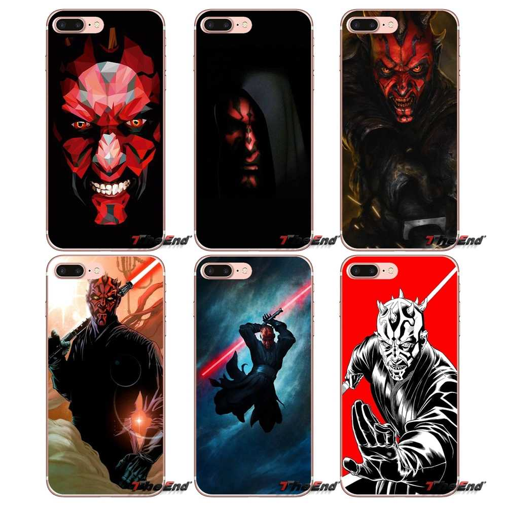 sith star wars darth maul dark side For Samsung Galaxy S2 S3 S4 S5 MINI S6 S7 edge S8 S9 Plus Note 2 3 4 5 8 Coque Fundas Covers