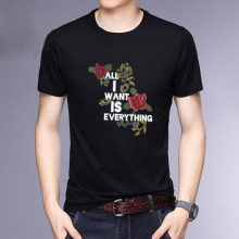 HAYBLST T Shirt Homme Brand Summer 2019 The New Fashion Casual Flower Design Short Sleeve Breathable Plus Size 5XL