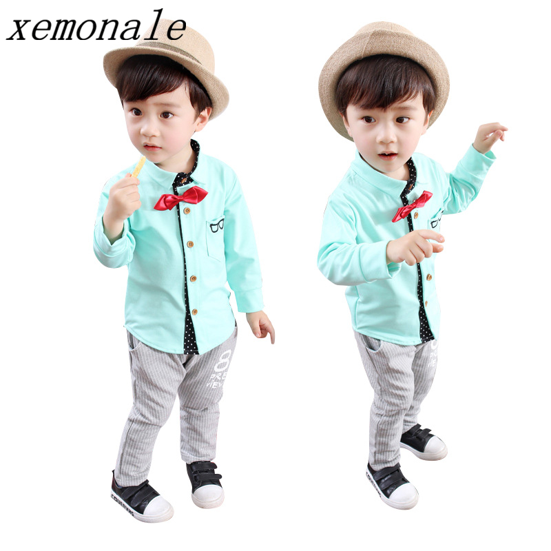 Autumn Children Boys Girls Casual Clothing Set Baby Fashion Plaid Shirt Pant 2 Pcs Suits Kids Brand Clothes Toddler Tracksuits fashion summer kids girls clothing set striped shirt coat pant 3pcs cotton children girls suits sportwear orange clothes aa5390