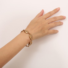 2019 New Boho Natural Alloy Cowrie Shell Bracelet Beach Dainty Gold Silver Seashell Bangles Women Fashion Jewelry