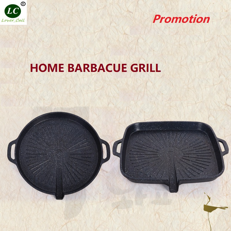 BBQ Grills Wheat stone Pan General fire gas general purpose Nonstick Pan Barbecue pot Round Roasting Plate