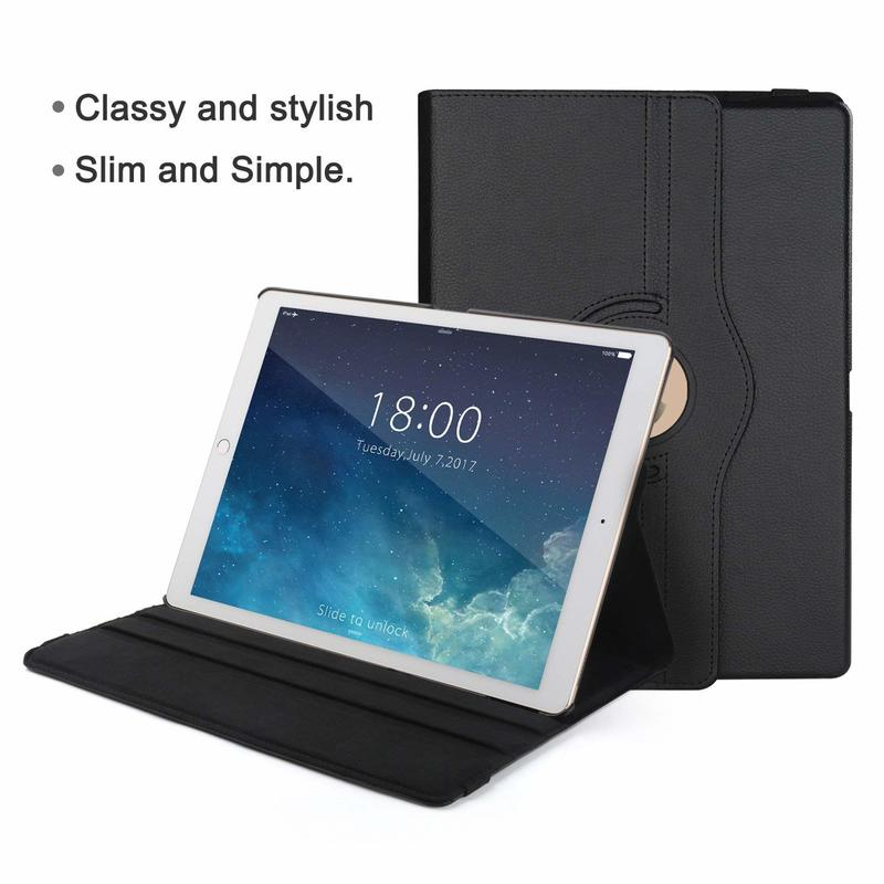 Funda 360-Degree for iPad Case Coque Rotating-Leather Auto-Awake-Cover Smart-Sleep Apple