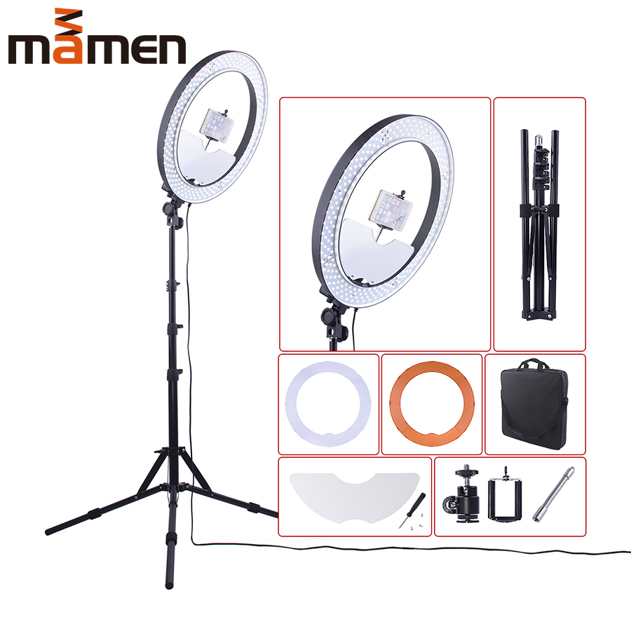 LED Ring Light Photo Studio Camera Light Round Lamp Photography Dimmable Video light for Makeup Selfie with Tripod Phone Holder in Photographic Lighting from Consumer Electronics