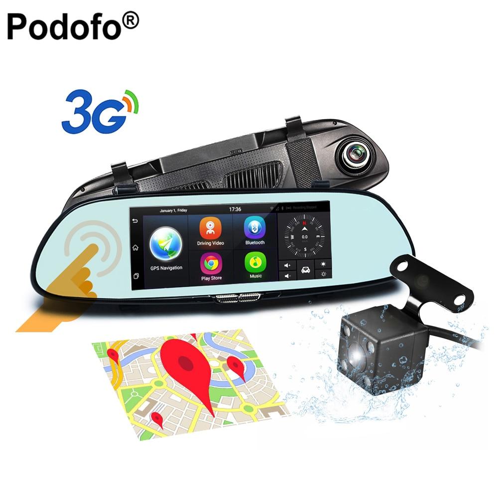 Dash Cam 7 Inch Rearview Mirror 3G Android 5 0 GPS WIFI Car Camera Dashcam DVR
