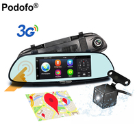 Dash Cam 7 Inch Rearview Mirror 3G Android 5 0 GPS WIFI Car Camera Dashcam DVR