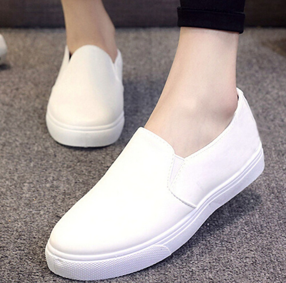 summer flats loafers for shoes pu