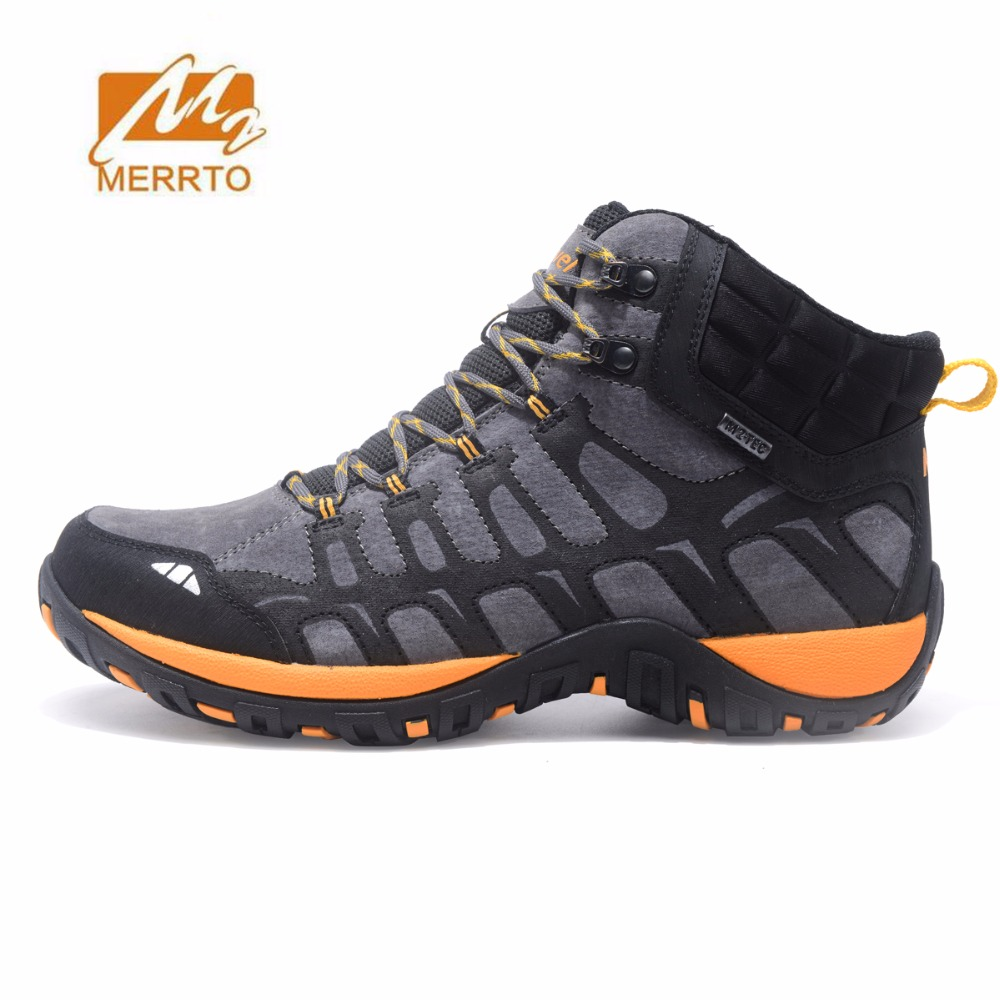 MERRTO Men's Winter Outdoor Hiking Boots Tactics Shoes anti-skid waterproof Sneakers Climbing camping Shoes hunting Boots yin qi shi man winter outdoor shoes hiking camping trip high top hiking boots cow leather durable female plush warm outdoor boot