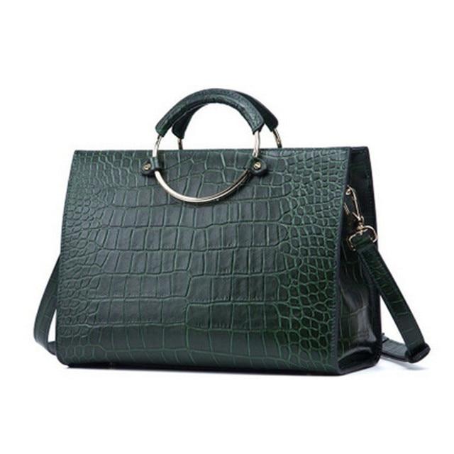 cuir cuir à main en lady crocodile 100 en motif Italien sac qH7nS