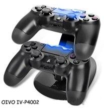 PS4 4 LED stacja dokująca podwójna usb dokująca ładowarka z podstawką stacja ładowania kontroler do gier stojak na Sony