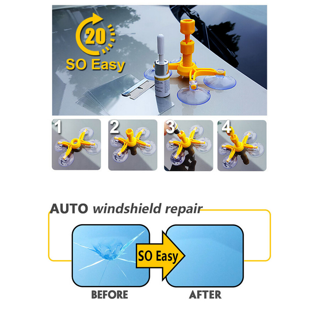 Auto Windshield Repair Tool For Chip Crack Phone Screen Car Glass Repair Kit