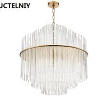 Фотография American style luxury simple european crystal lamp glass brief living room LED pendant light Dia50/68cm