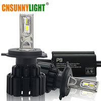CNSUNNYLIGHT Car Headlight LED H7 H11 H8 9005 HB3 9006 HB4 9012 D1 D2 D3 D4